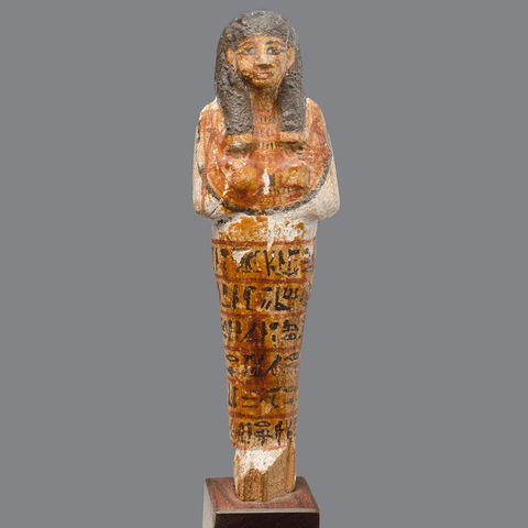 An Egyptian Wood Shabti for Ra-emi, New Kingdom (ca. 1293- 1070 BC)