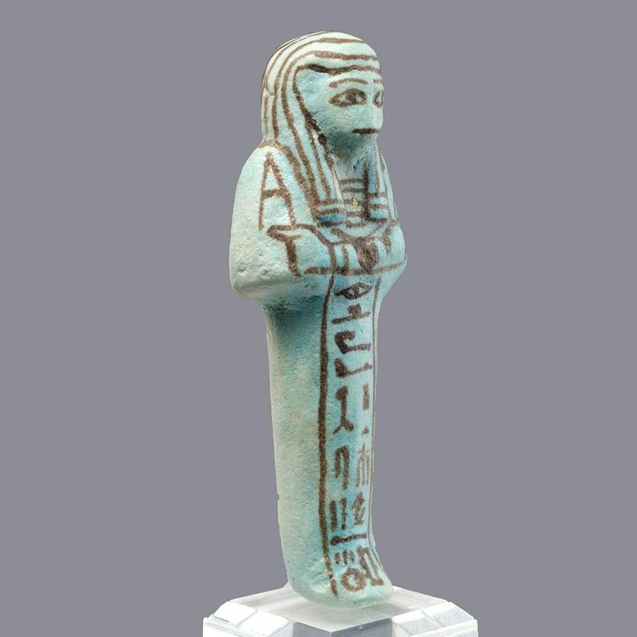 * An Egyptian Faience Shabti for Ptahmose, 19th Dynasty, ca.1293 – 1185 BC - Sands of Time Ancient Art