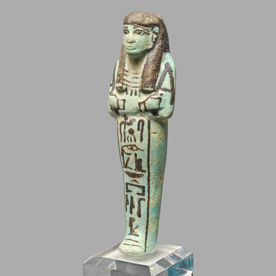 * An Egyptian Faience Shabti for Princesss Tiy, Dynasty 19, ca. 1293-1185 BC