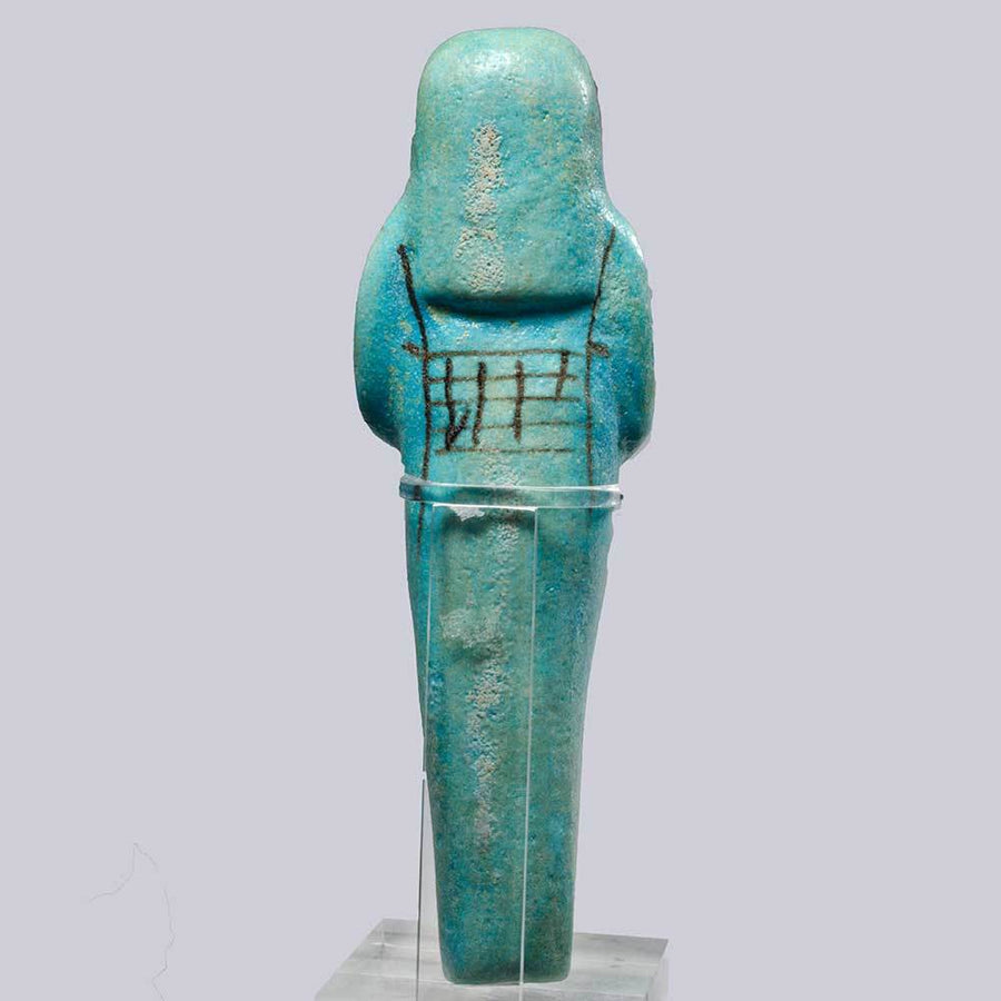 * An Egyptian Faience Shabti for Princess IsetNofret, Dynasty 19, ca. 1293-1185 BC
