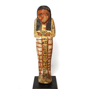 * A good Egyptian Wood Shabti for Khaemwaset, 20th Dynasty , ca. 1187 - 1069 BC