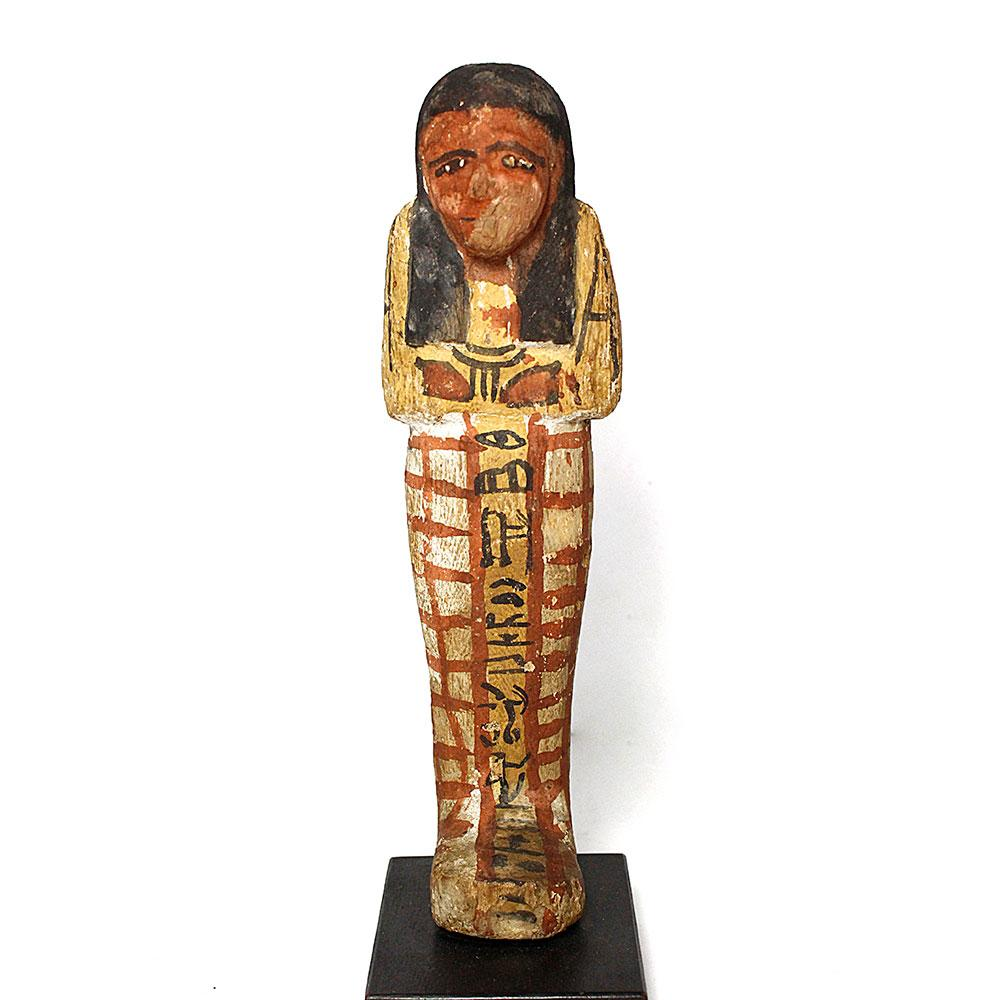 A good Egyptian Wood Shabti for Khaemwaset, 20th Dynasty , ca. 1187 - 1069 BCE - Sands of Time Ancient Art