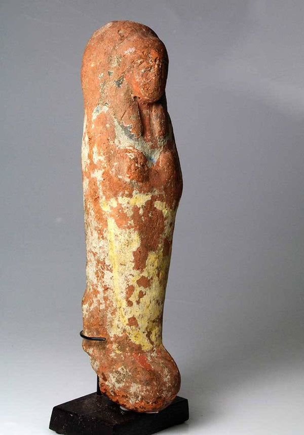 A large Egyptian Ramesside Shabti 19th - 20th Dyn, ca. 1292-1080 B.C. - Sands of Time Ancient Art