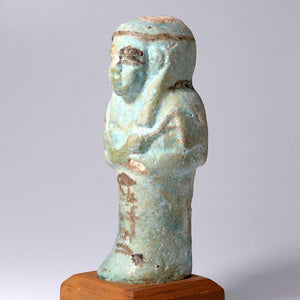 An Egyptian Faience Shabti for Imintet, 21st Dynasty ca. 1069-945 BCE - Sands of Time Ancient Art