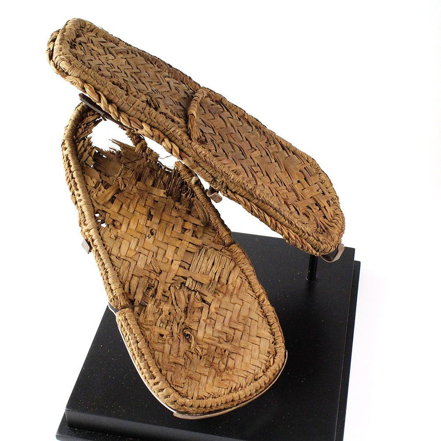 A pair of Egyptian Plaited Reed Sandals, 18th Dynasty, ca 1550-1295 BC - Sands of Time Ancient Art