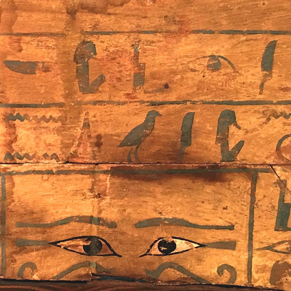An Egyptian Wood Side Panel from a Sarcophagus for the Priestess Het-epher, Middle Kingdom, ca 2134 - 1778 BCE - Sands of Time Ancient Art