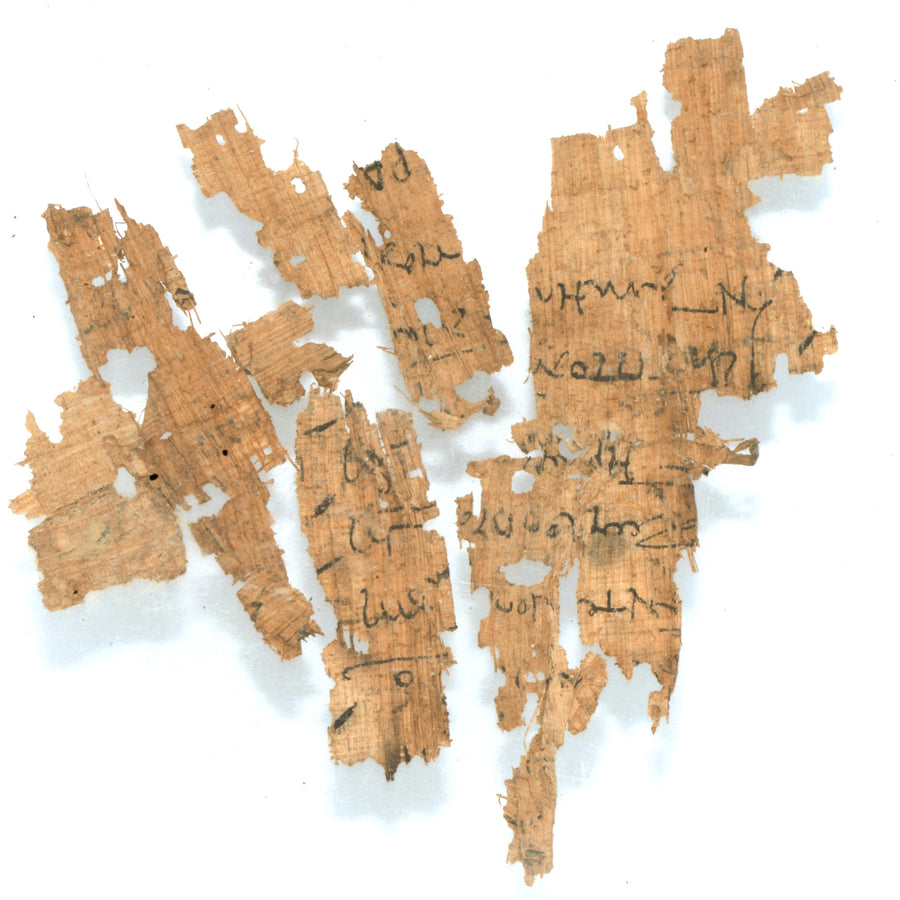 * A group of Greek Papyrus Fragments, Ptolemaic Period, ca. 332 - 30 BCE