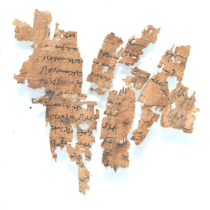 * A group of Greek Papyrus Fragments, Ptolemaic Period, ca. 332 - 30 BCE - Sands of Time Ancient Art