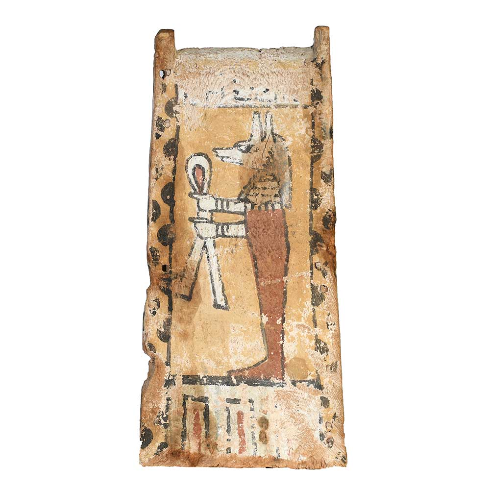 * An Egyptian Wooden Canopic Chest Panel, Late Period, ca. 664 - 332 BCE