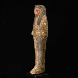 An Egyptian Wood Figure of Imsety, Ptolemaic Period, ca. 332 - 30 BCE - Sands of Time Ancient Art