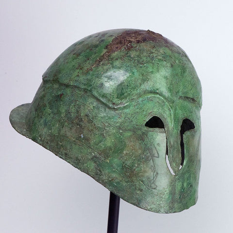 A Greek Bronze Helmet of Apulo-Corinthian Type, Southern Italy, ca 4th century BC - Sands of Time Ancient Art