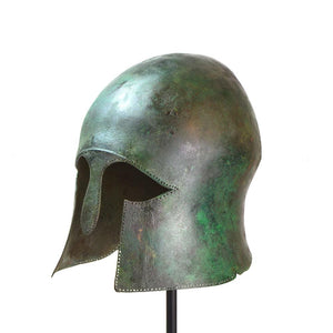 A Greek Bronze Helmet of Corinthian Type, Archaic Period, ca. mid 6th century B.C. - Sands of Time Ancient Art