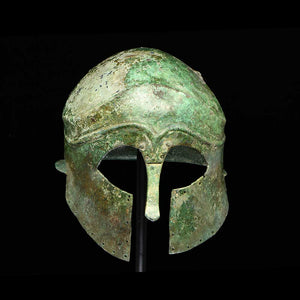 A Corinthian Bronze Helmet, Magna Graecia, ca. late 6th Century BCE - Sands of Time Ancient Art