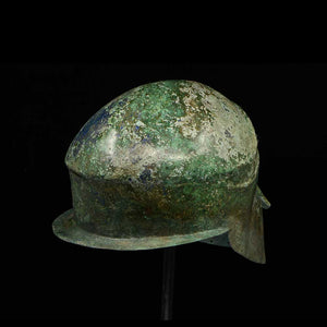 * A Corinthian Bronze Helmet, Magna Graecia, ca. late 6th Century BCE - Sands of Time Ancient Art