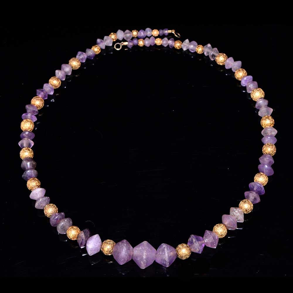 A Roman Amethyst Bead Necklace, ca. 1st century BC/AD - Sands of Time Ancient Art