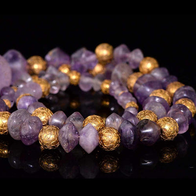 * A Hellenistic Amethyst Bead Necklace, ca. 2nd - 1st century BC - Sands of Time Ancient Art