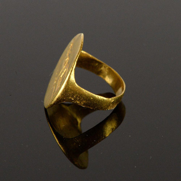 * A Greek gold Athena ring, Classical Period, ca. 5th-4th Century BC