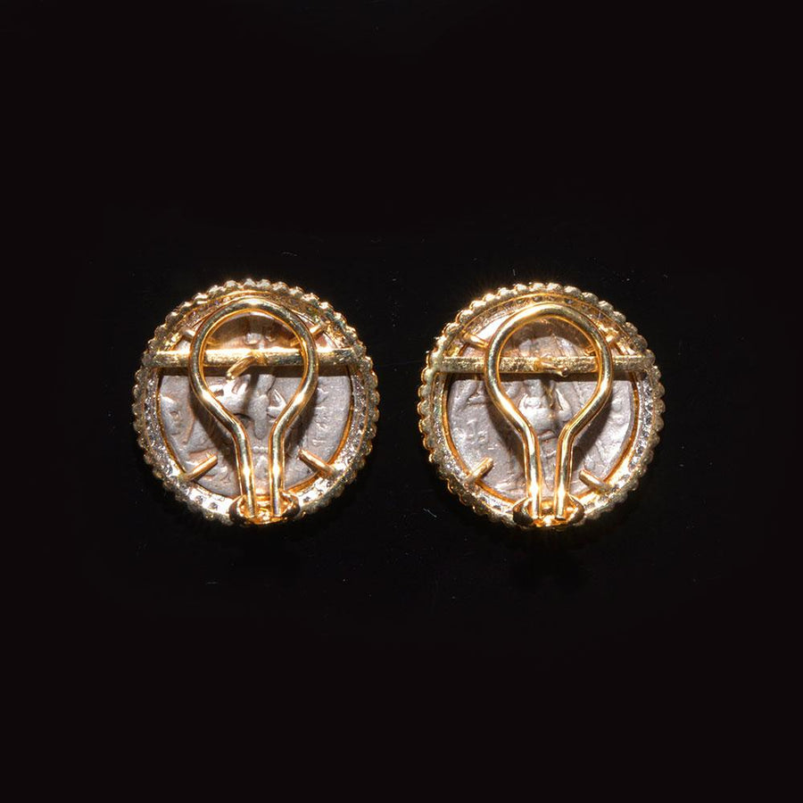 A pair of Alexander the Great Silver Drachm, c.336 - 323 BCE set as earrings - Sands of Time Ancient Art