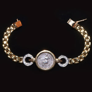 A silver Alexander the Great Drachm (ca. 336 - 323 BCE) set as a bracelet - Sands of Time Ancient Art