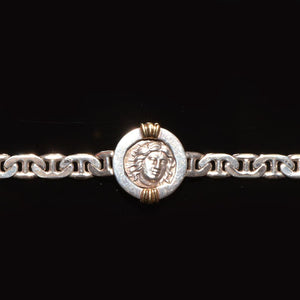 * A silver Greek Didrachm, Rhodes, ca. 3rd Century BC, set as a bracelet - Sands of Time Ancient Art
