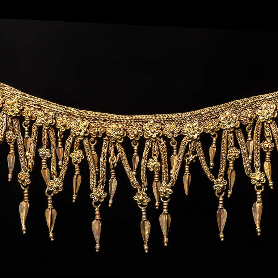 * A Hellenistic Gold Strap Necklace, ca. 3rd - 2nd century BCE - Sands of Time Ancient Art