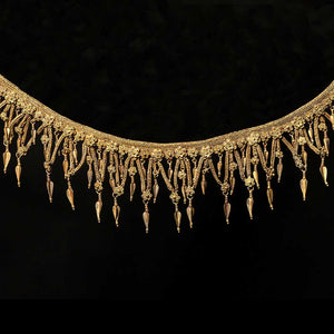 * A Hellenistic Gold Strap Necklace, ca. 3rd - 2nd century BCE