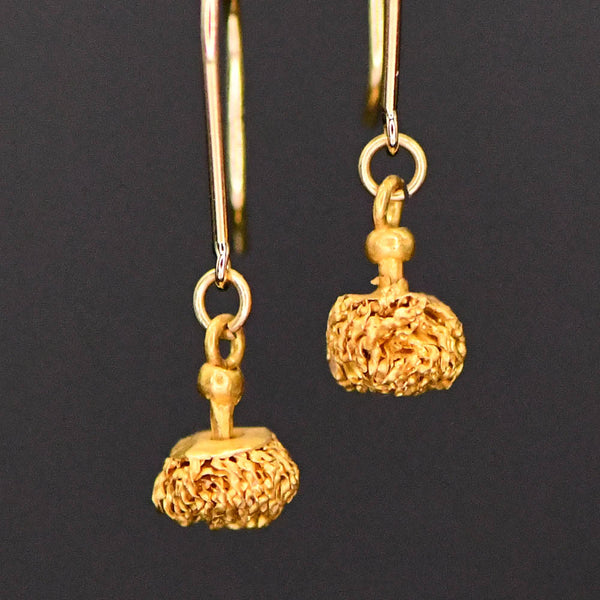 A pair of Greek Gold Drops, Hellenistic Period, ca 3rd - 1st century BCE