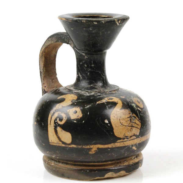 A Red-Figure Xenonware Squat Lekythos with Duck, Magna Grecia, ca. 4th century BC - Sands of Time Ancient Art