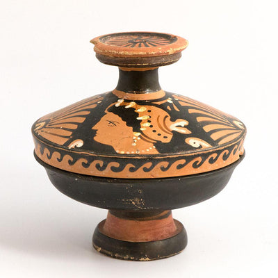 A Greek Apulian Red Figure Pyxis, Magna Graecia, ca. 4th century BC - Sands of Time Ancient Art