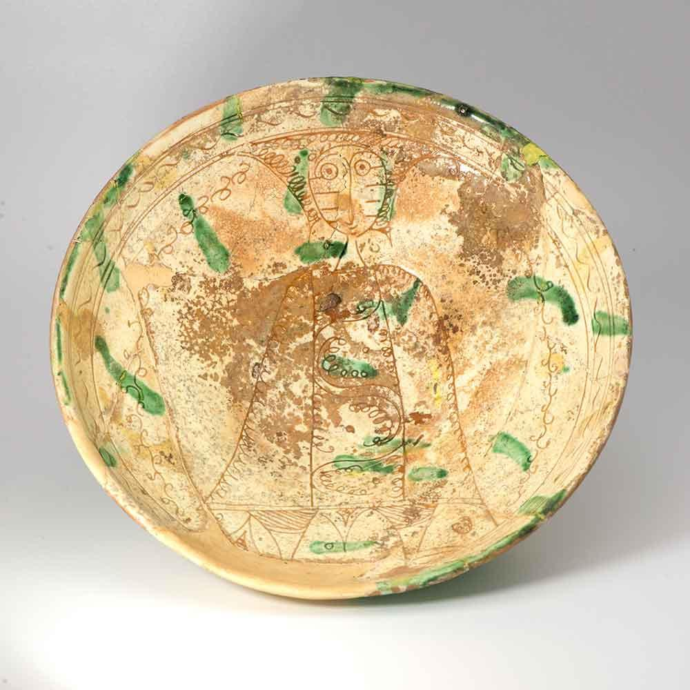 A Cypriot Brown and Green Sgraffito Ware Bowl, Late 13th century AD - Sands of Time Ancient Art