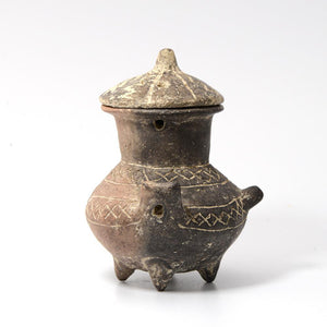 * A Yortan Culture Blackware Pyxis, Western Anatolia, Troy I, 3500-2600 BC - Sands of Time Ancient Art