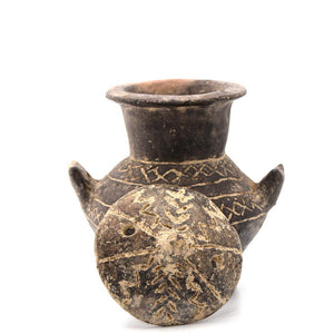 A Yortan Culture Blackware Pyxis, Western Anatolia, Troy I, 3500-2600 BCE - Sands of Time Ancient Art