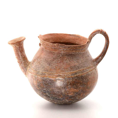 A Cypriot Redware Kettle Vessel, Middle Cypriot II Period, 1800-1725 BC - Sands of Time Ancient Art