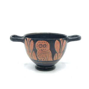 * An Attic Red Figure Owl Skyphos, Classical Period, ca. 425 - 400 BC - Sands of Time Ancient Art