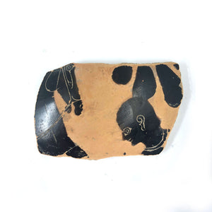 * A Greek Black-Figure Fragment from a Neck Amphora, Archaic Period, ca. 520 - 510 BCE