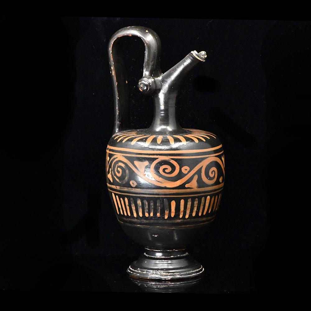 A Red-Figure Xenonware Oinochoe, Magna Graecia, ca. late 4th century BCE - Sands of Time Ancient Art