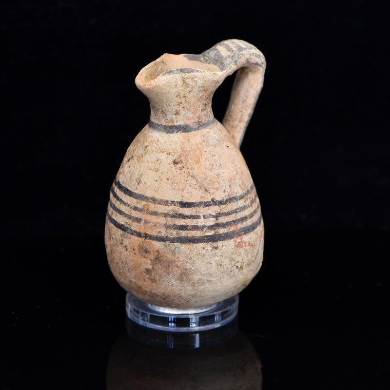 * A small Cypro-Phoenician Black on Red Ware Juglet, Iron Age II A-B, ca. 900 - 800 BCE - Sands of Time Ancient Art