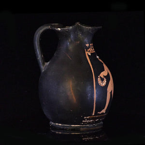 * An Apulian Red Figure Trefoil Oinochoe, ca. 4th century BCE