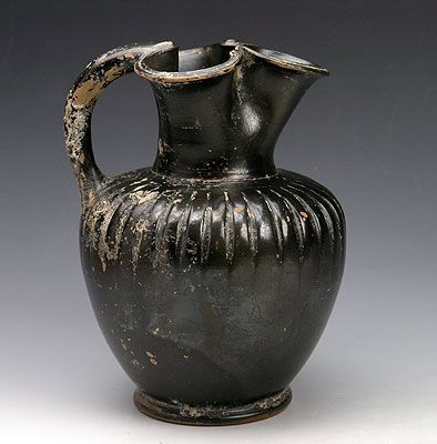 An Attic Black-Glazed Oinochoe, ca 5th century BC - Sands of Time Ancient Art