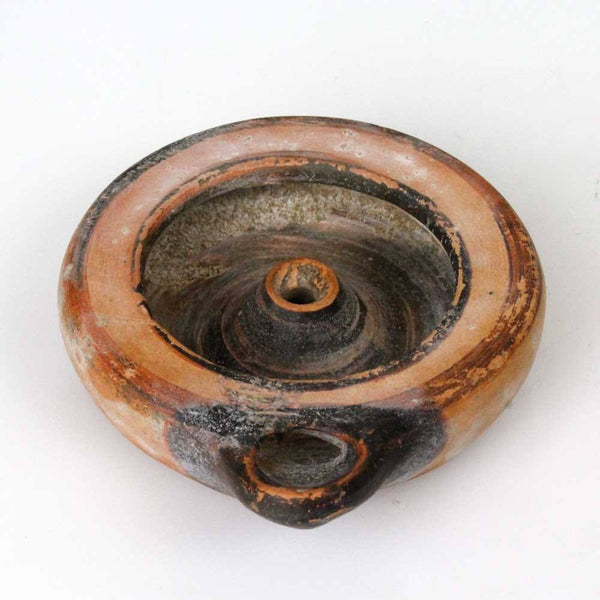 A good Attic Oil Lamp with black slip detail, ca. 550 - 475 BC - Sands of Time Ancient Art