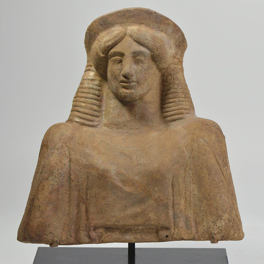 A Greek Terracotta Protome of Demeter, ca. 5th century BCE - Sands of Time Ancient Art