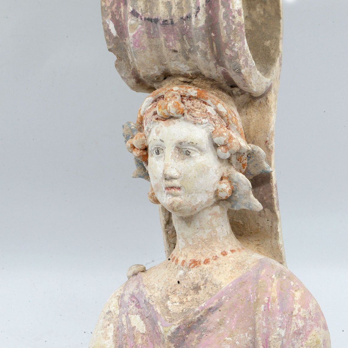* A Greek Terracotta Votive Goddess, Classical Period, ca. 4th century BCE - Sands of Time Ancient Art