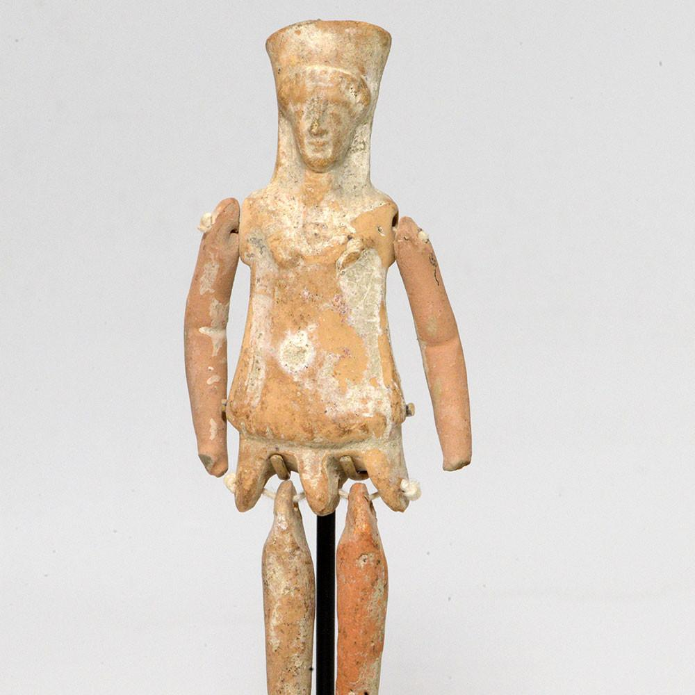 A Boeotian Terracotta Jointed Figurine, Archaic Period, ca. 5th Century BCE - Sands of Time Ancient Art
