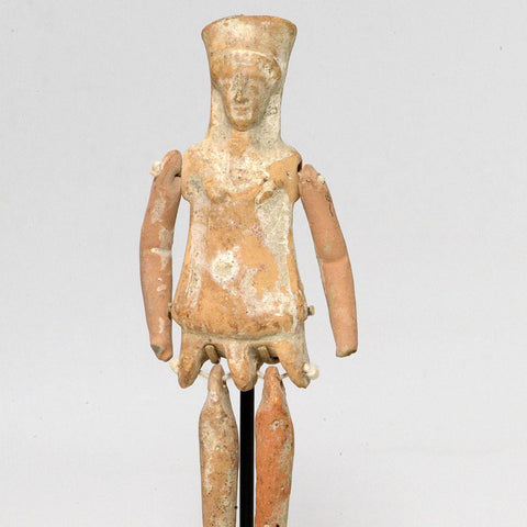A Boeotian Terracotta Jointed Figurine, Archaic Period, ca. 5th Century B.C.