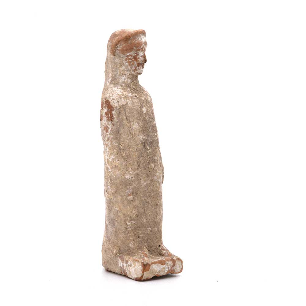 A Hellenistic Terracotta Statuette of a Standing Girl, ca. 3rd-1st Century BCE - Sands of Time Ancient Art
