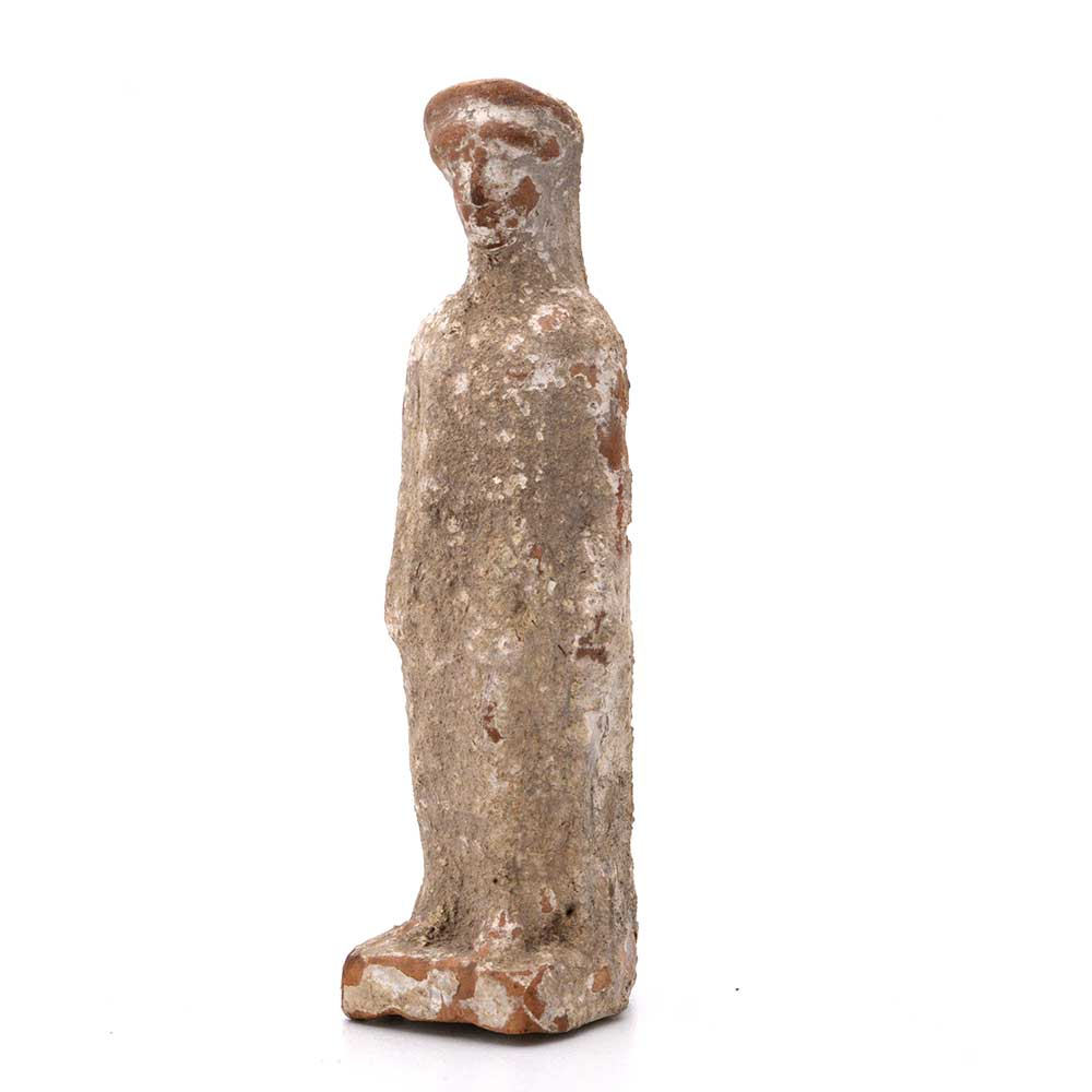 A Hellenistic Terracotta Statuette of a Standing Girl, ca. 3rd-1st Century BC - Sands of Time Ancient Art
