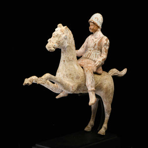 * A Greek Terracotta Warrior on Horse, Canosa, circa 4th-3rd Century BCE