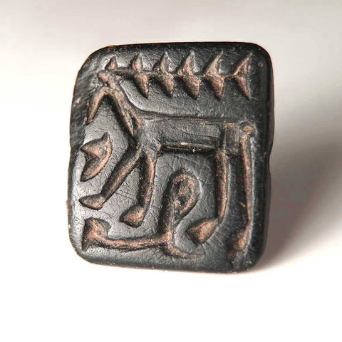 An Anatolian Gable Stamp Seal of a Stag, ca 4th millennium BC. - Sands of Time Ancient Art