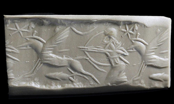 A Neo-Assyrian Agate Cylinder Seal, ca.1049–609 B.C. - Sands of Time Ancient Art