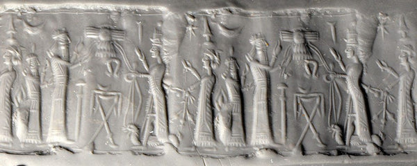 A Neo-Assyrian Chalcedony Cylinder Seal, ca. 8th - 7th century BC - Sands of Time Ancient Art